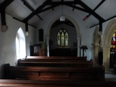Kea old church: the nave